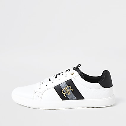 White 'RR' monogram trainers