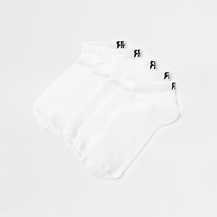 White RR trainer socks 5 pack