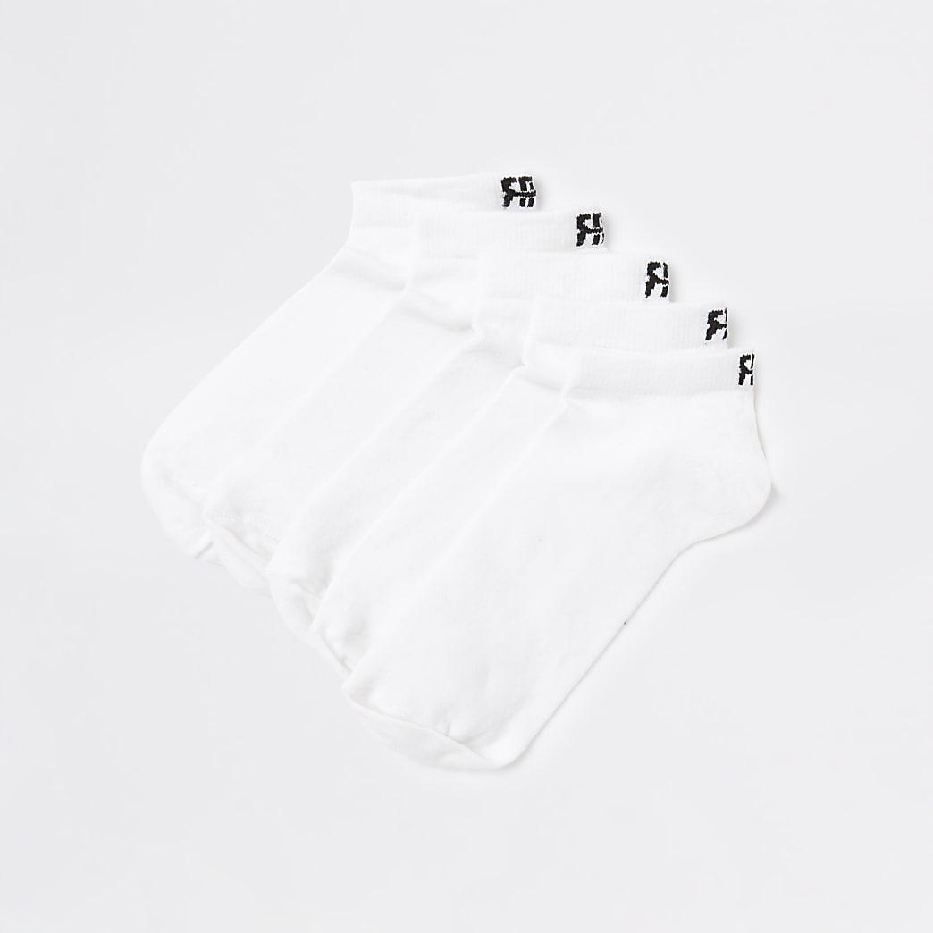 White RR trainer socks 5 pack