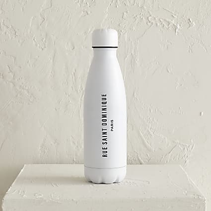 White Rue saint dominique water bottle