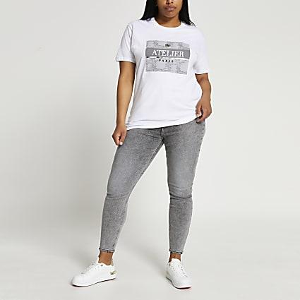 White short sleeve atelier jungle box t-shirt
