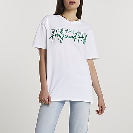 White short sleeve Hollywood Hills t-shirt