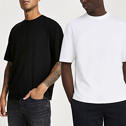 White short sleeve oversized t-shirt 2 pack