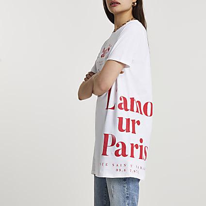 White short sleeve Paris t-shirt