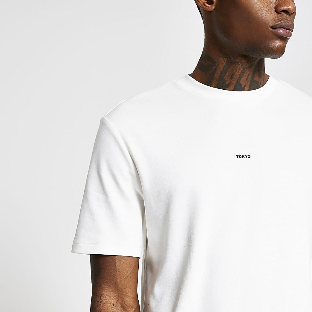White short sleeve regular 'Tokyo' t-shirt