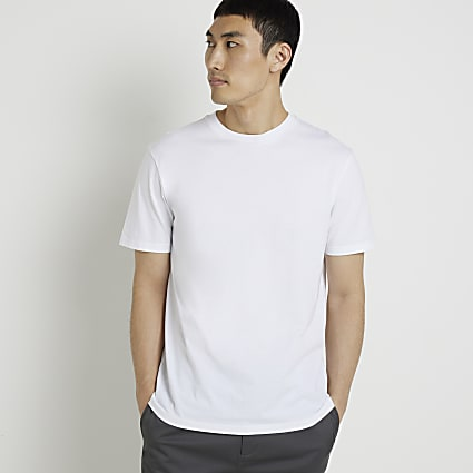 White short sleeve slim fit t-shirt