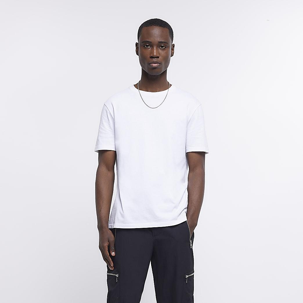 White short sleeve slim fit t-shirt