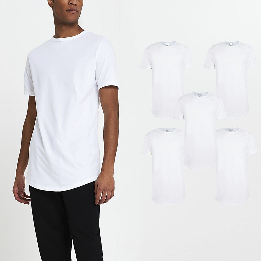 White short sleeve t-shirts 5 pack