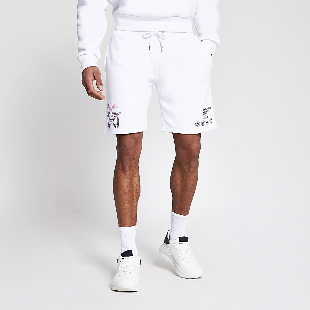 Witte slim-fit new world shorts