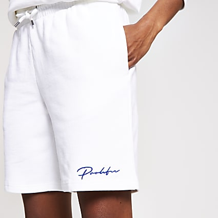 White slim prolific shorts