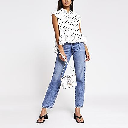 White Spot print shirt