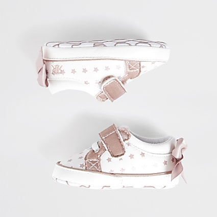White star bow back trainers