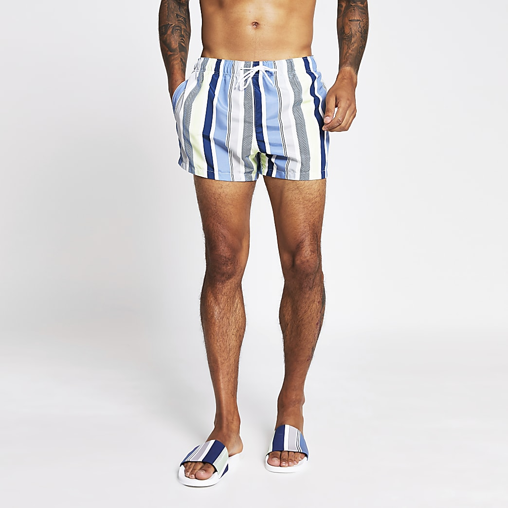 White stripe swim shorts