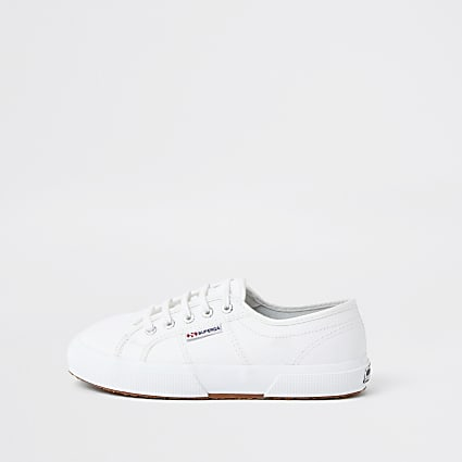 White Superga classic leather runner