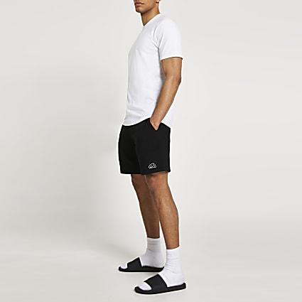 White t-shirt and shorts sleeve