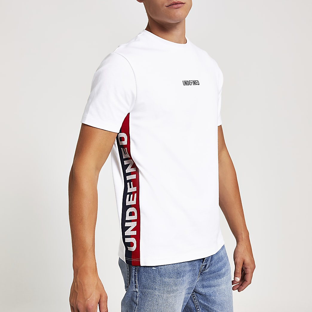 White 'Undefined' slim fit T-shirt