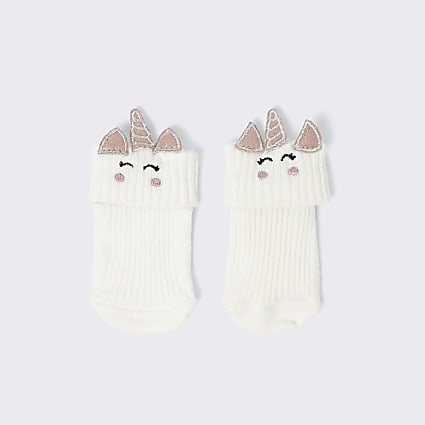 White unicorn socks