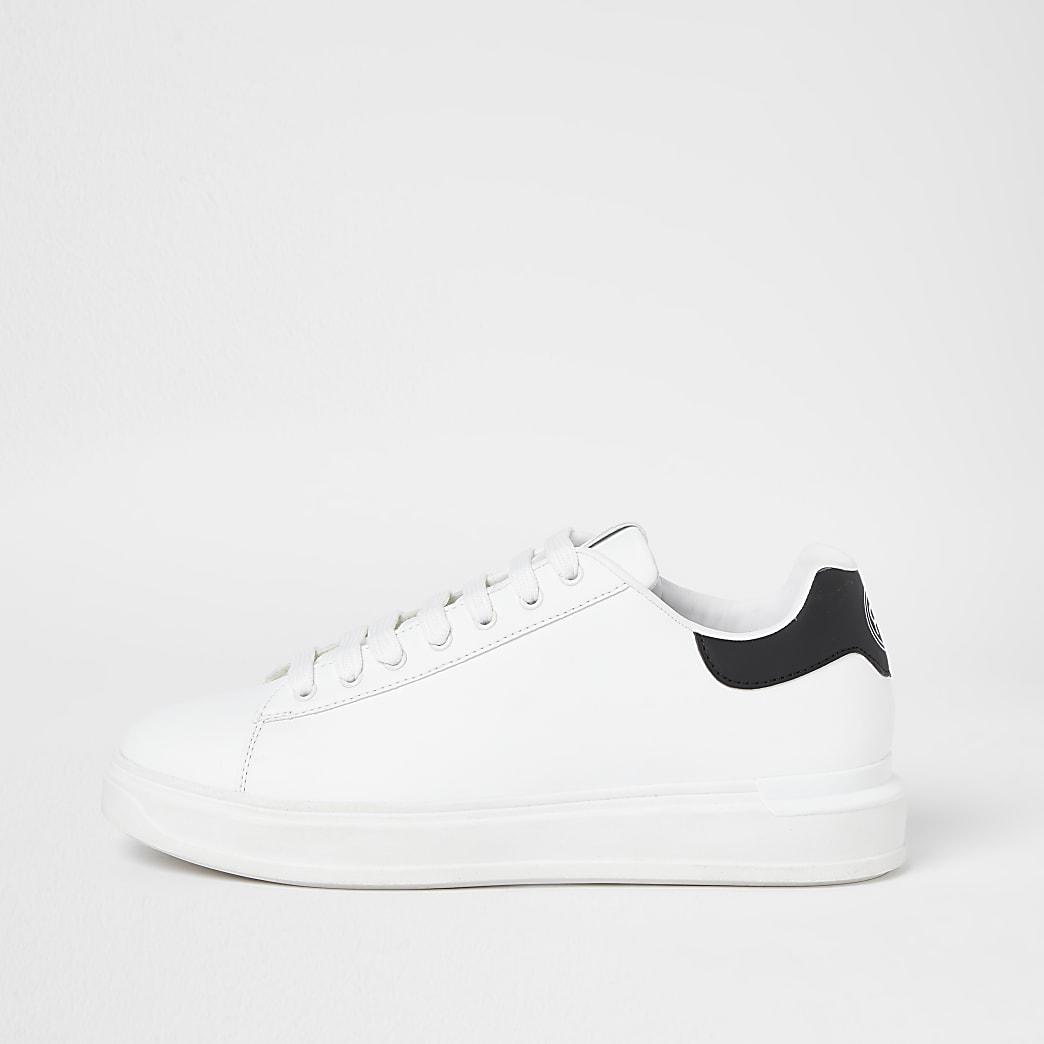 White wedge trainers