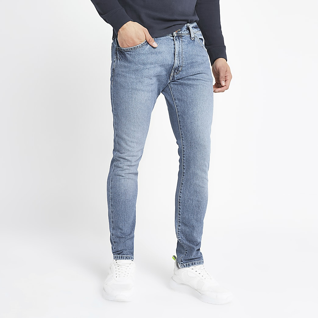 Wrangler – Hellblaue Skinny Jeans