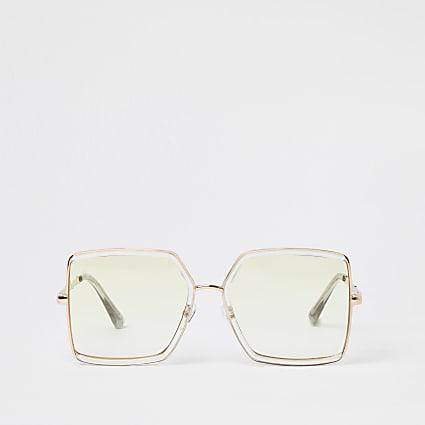 Yellow angular sunglasses
