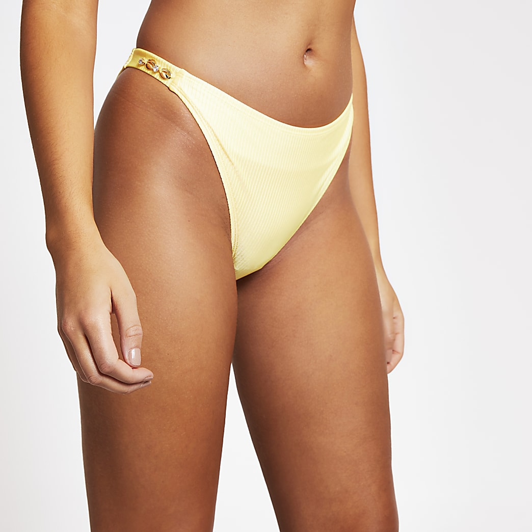 Yellow Bright Shell Trimmed HL Brief