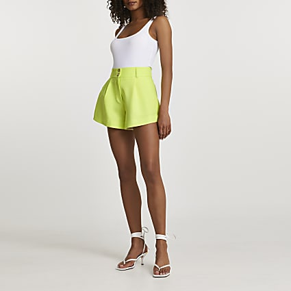 Yellow bright structured shorts