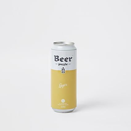 Yellow larger beer puzzle in can