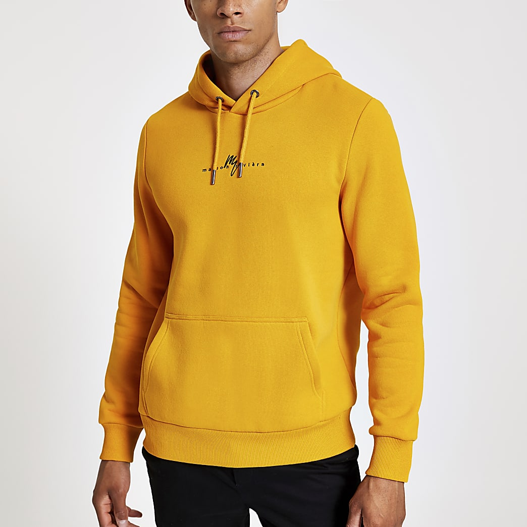Yellow Maison Riviera slim fit hoodie