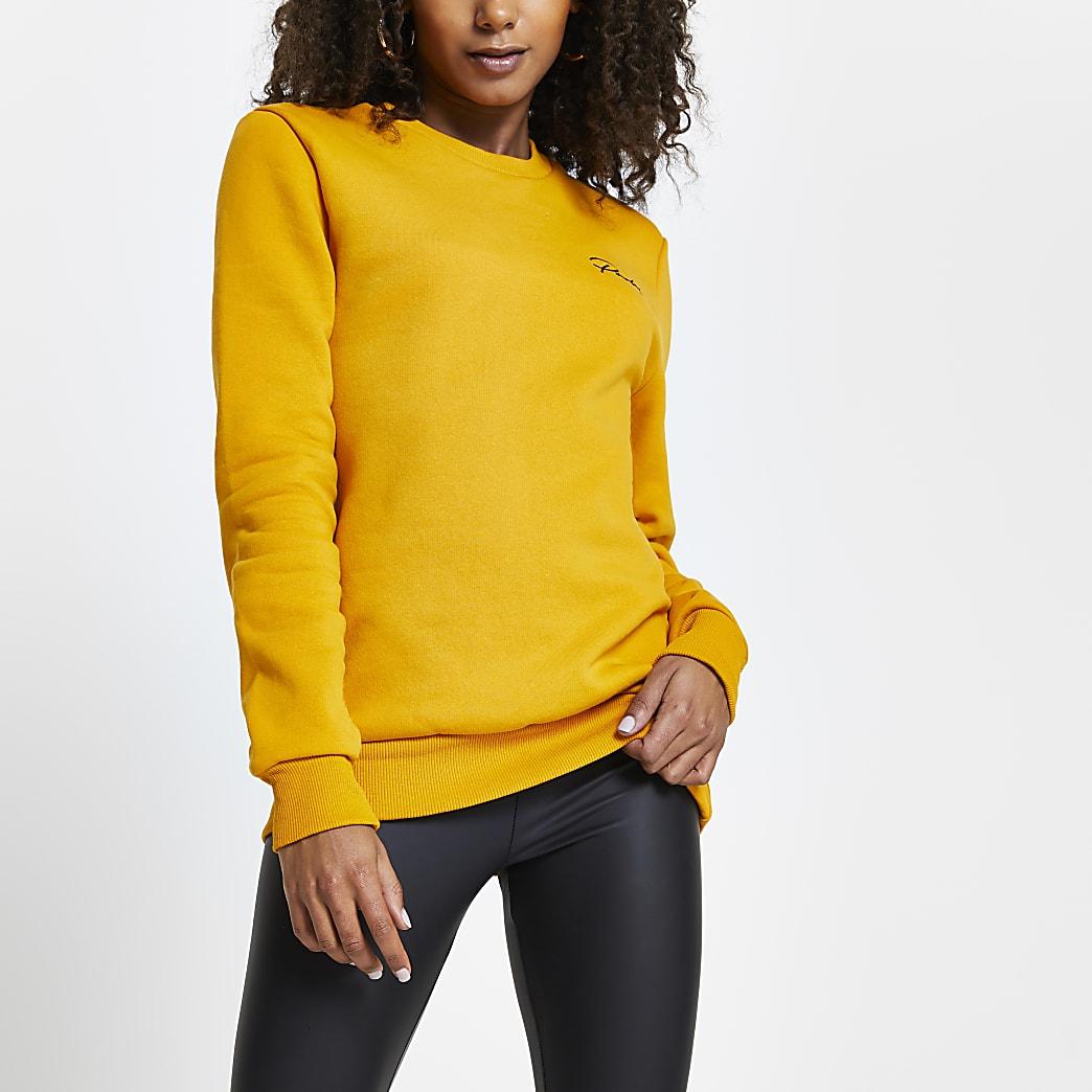 Yellow mens Prolific long sleeve sweatshirt