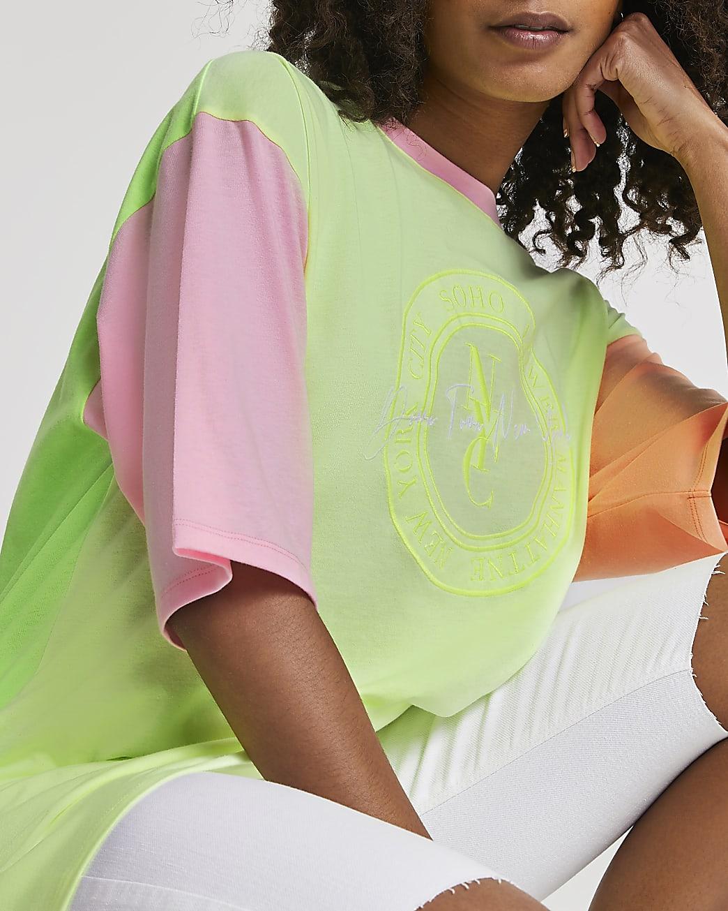 Yellow 'NYC' neon oversized t-shirt
