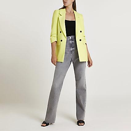Yellow oversized blazer