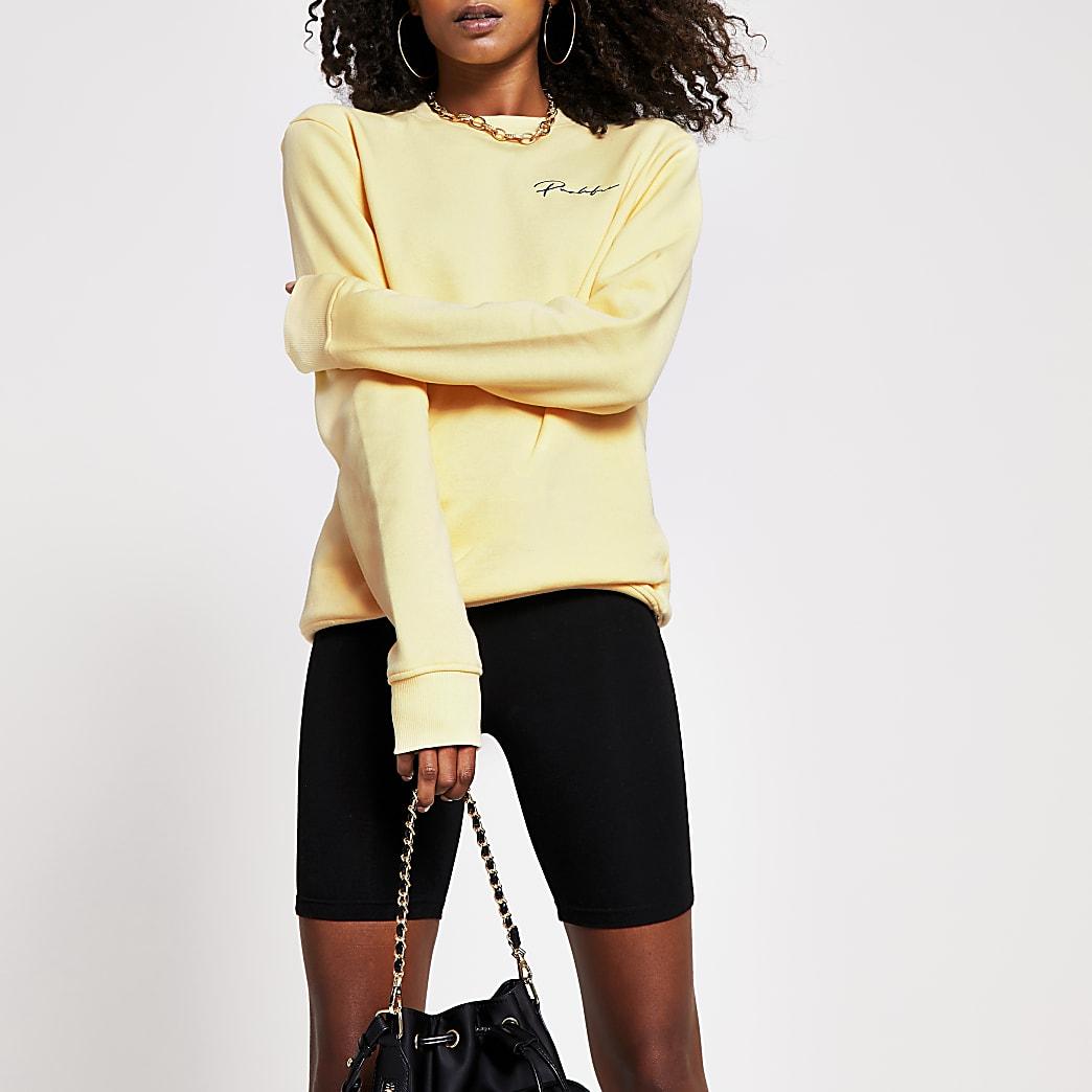 Yellow Prolific crew sweatshirt