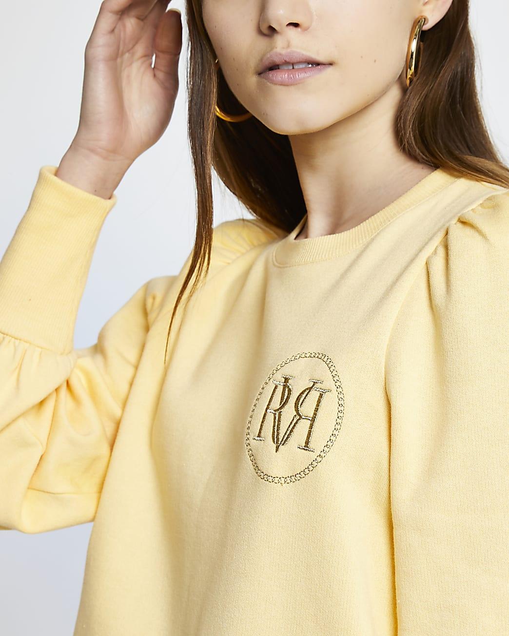 Yellow RI branded sweatshirt
