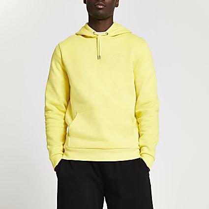 Yellow RI slim fit hoodie