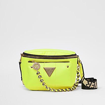 Yellow RI strap cross body bag