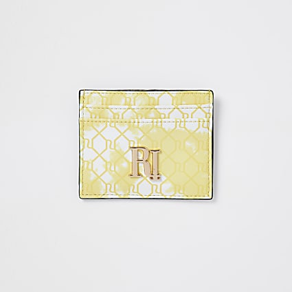 Yellow RI tie dye cardholder