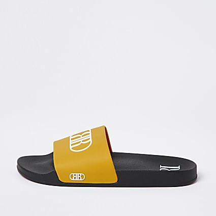 Yellow RR embossed sliders