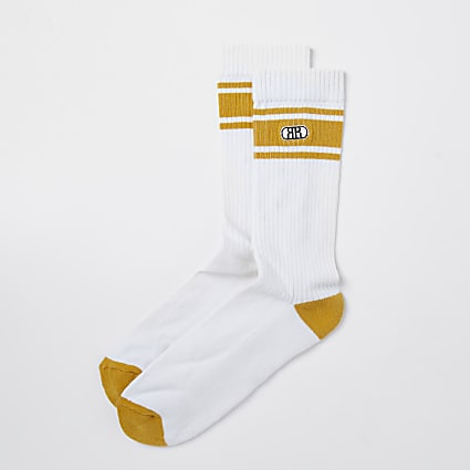 Yellow RR stripe socks