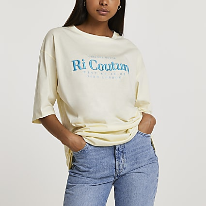Yellow short sleeve RI Couture t-shirt